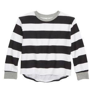 NWT Stem High/Low Striped Long Sleeve Tee